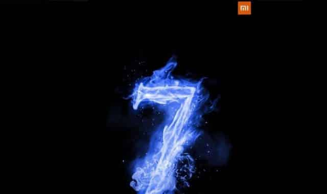 Recently, a new poster comes out of Mi branding which includes a digit number '7' and a launch date of 23rd May.