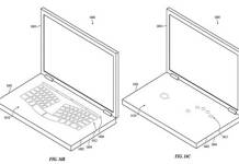 MacBook with virtual keyboard and an invisible trackpad patent filed by Apple