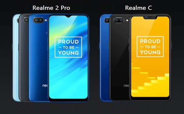 Realme 2 Pro and Realme C1 Announced in India at an affordable price with notch display