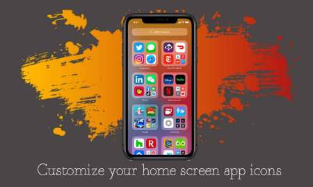 Steps to customize homescreen app icons in iOS 14