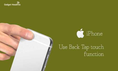 Steps to use iOS 14 Back Tap Touch on iPhone