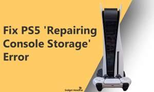 Fix PS5 'Repairing Console Storage' Error