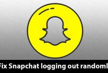 Fix Snapchat logging out randomly