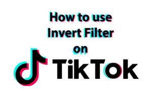 How to use inverted filter on TikTok