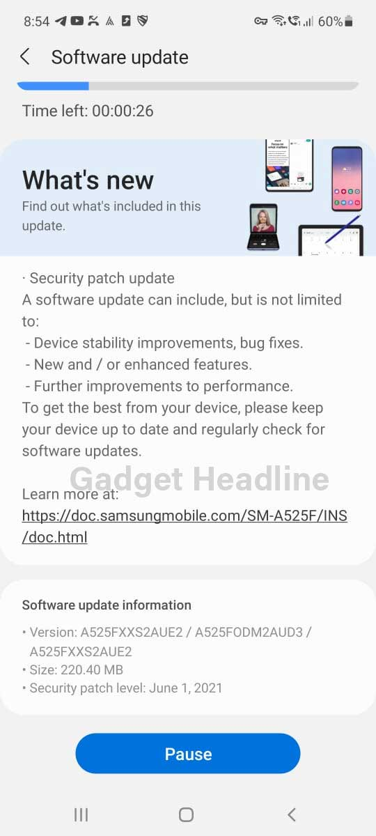 Samsung Galaxy A52 (4G) is receiving June 2021 Security Patch in India