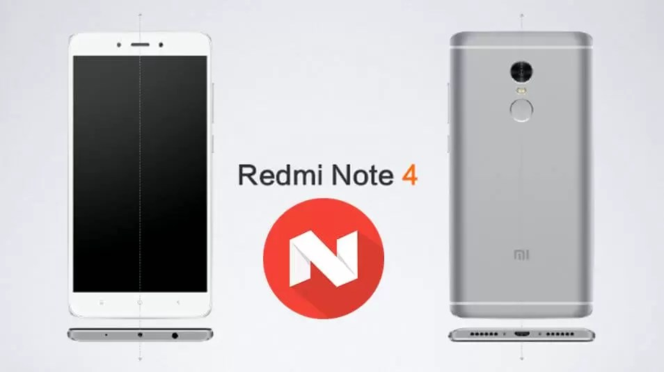 Xiaomi Redmi Note 4 started receiving the Android Nougat 7.0 update or Download now