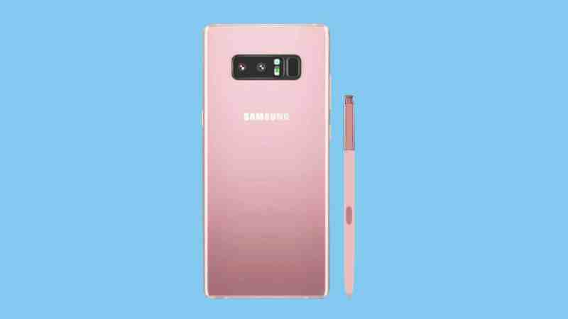 Samsung Galaxy Note 8 in Pink