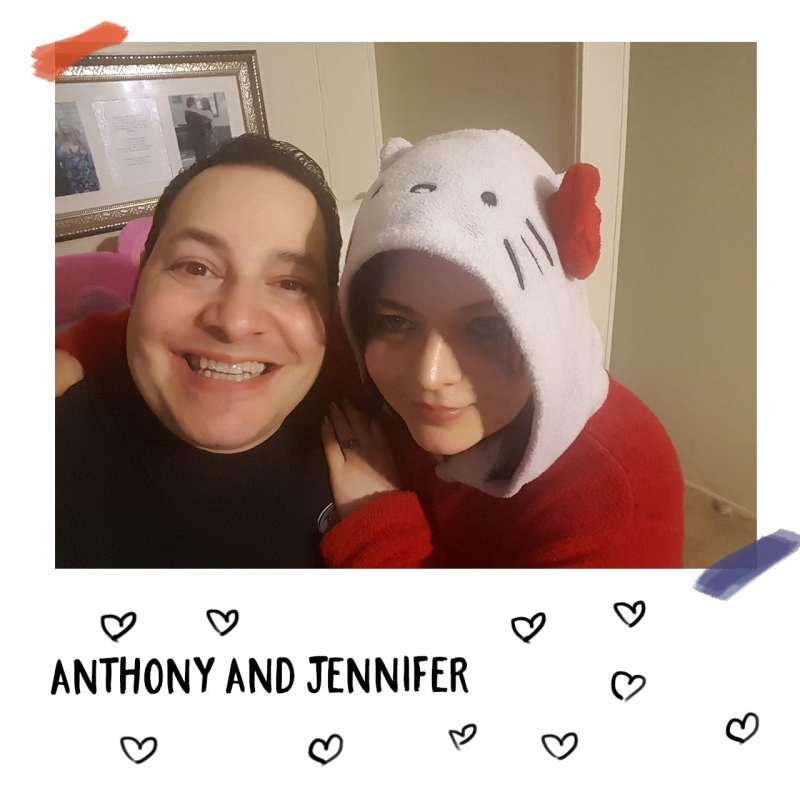 The happy Hello Kitty loving couple: Anthony and Jennifer Martino