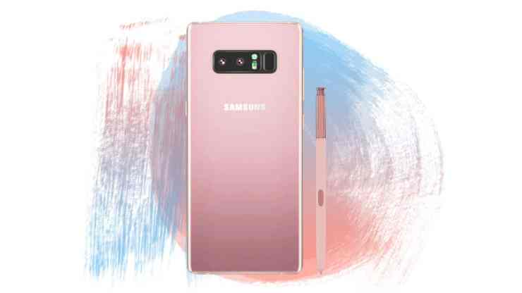 Samsung Galaxy Note 8 comes in Star Pink with S Pen