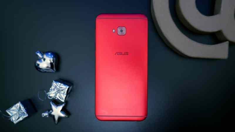 Red ASUS ZenFone 4 Selfie Pro back