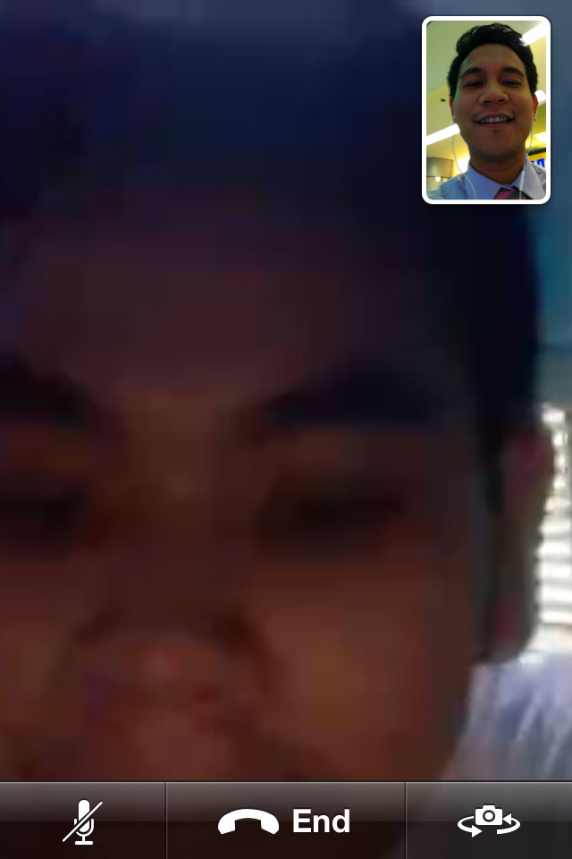 Facetime Call with my bro (Portrait View)