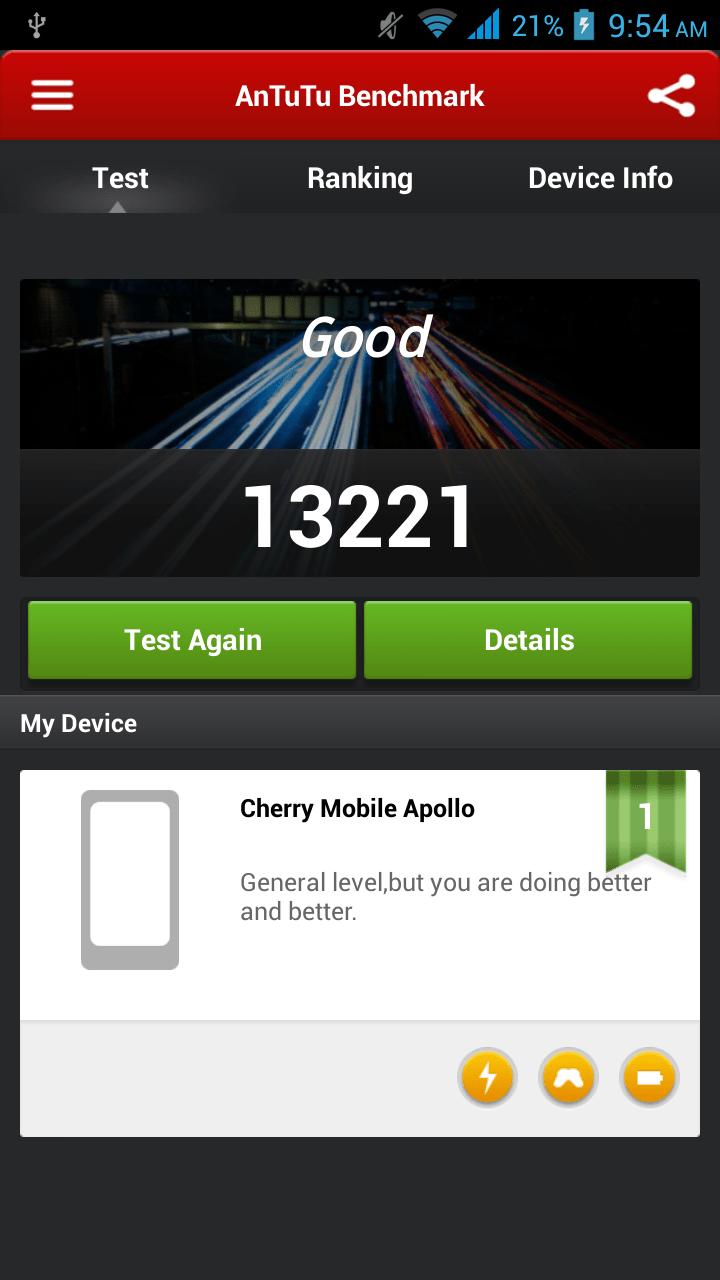 Cherry Mobile Apollo Benchmark