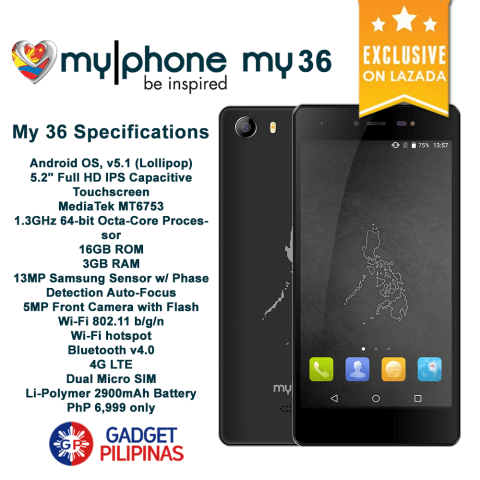 MyPhone My 36, MyPhone My 36 Availability Announced, Priced at PhP6999, Gadget Pilipinas, Gadget Pilipinas
