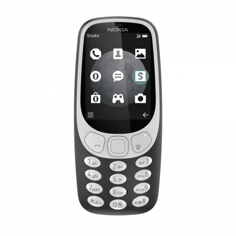 Nokia 3310 3G Charcoal front
