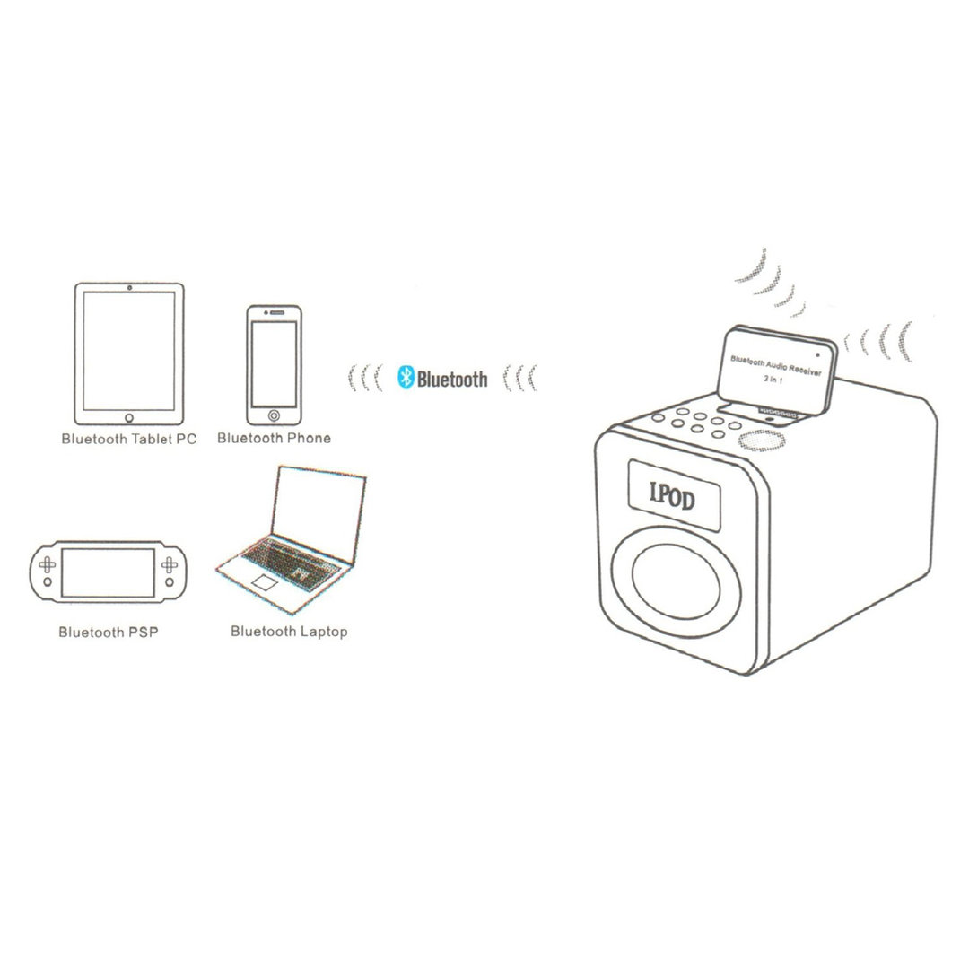 30 Pin Bluetooth Audio Receiver Adapter
