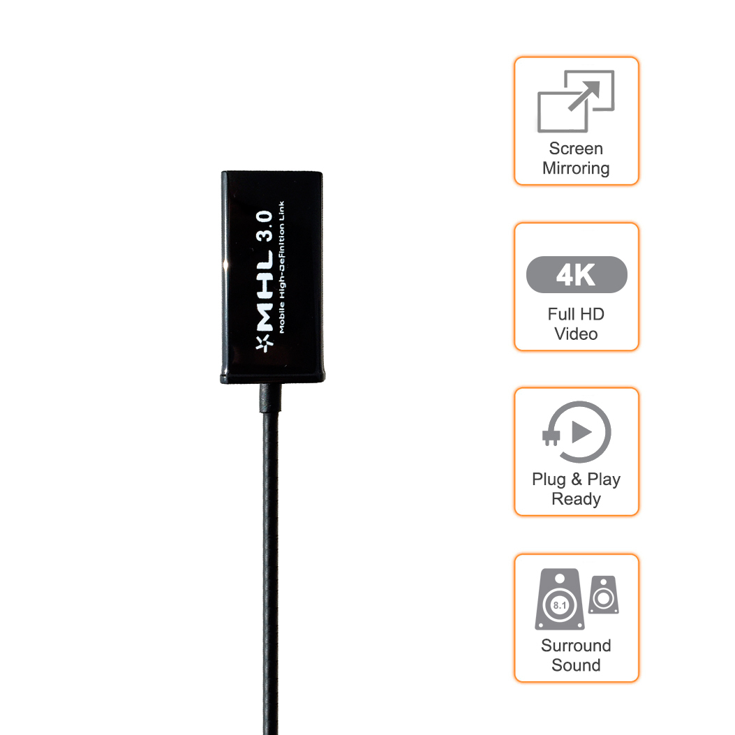 Mhl 3 0 Micro Usb To Hdmi Adapter Cable Bundle