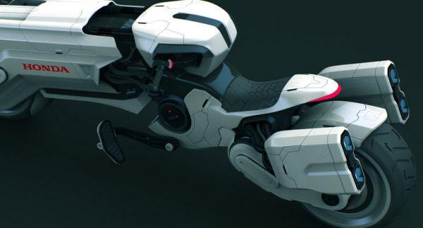 honda chopper futuristic motorcycle concept | gadgets and gizmos