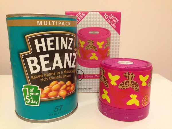 Compared with a tin of beans - it's tiny.