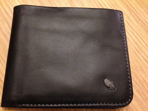 The wallet is made of soft leather hide. The contrast stitching looks stunning and it smells amazing when new.