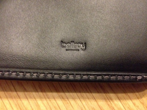 Some more subtle branding here. This time bellroy is embossed inside.
