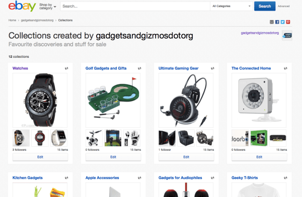 gadgetsandgizmosdotorg-eBay-collections