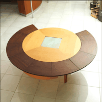 Braun Woodline - Expandable Circular Table