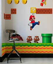 Your Own Mario Motif Wall