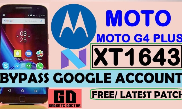 MOTO G4 Plus XT1643 FRP Bypass Google Account (Android-7) -JUNE Patch