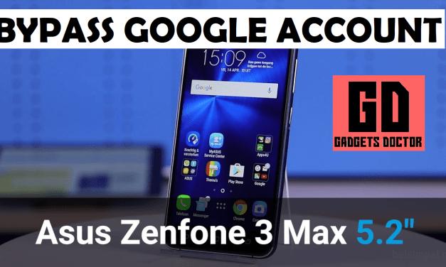 Asus Zenfone 3 Max 5.2 X008D ZC520TL FRP Bypass Google Account (MT6737T)