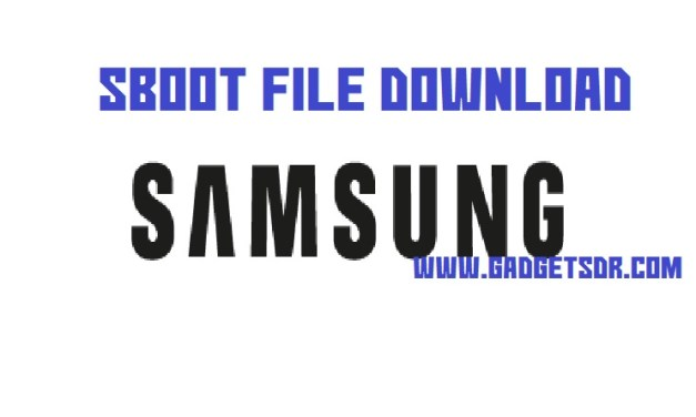 Samsung S5 Plus SM-G901F ENG Sboot File -Latest
