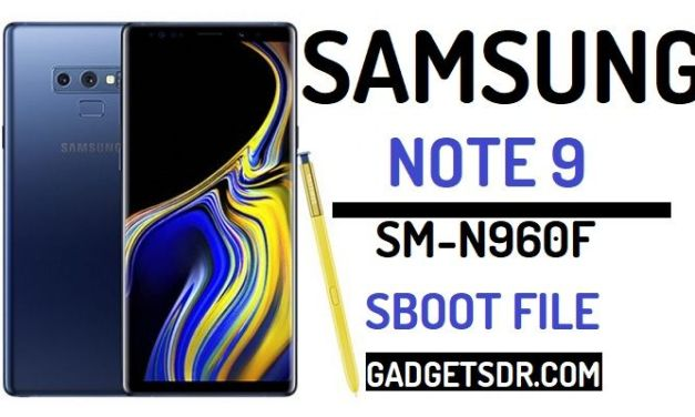 Download Samsung Galaxy Note 9 SM-N960F SBoot File