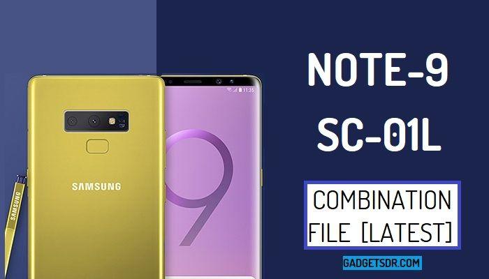 Samsung Note 9 SC-01L Combination Firmware Rom File