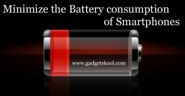 Tips to minimize the Battery consumption
