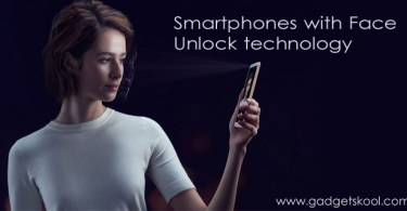 Top smartphones with face unlocking (facial recognition) feature