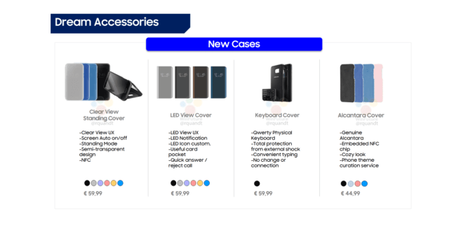 Samsung Galaxy S8 Accessories leaked Ahead of Official launch with Prices