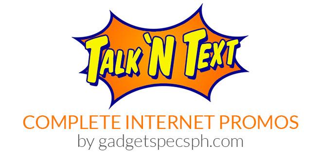 3eab6c8d7c73eb ALL Talk  N Text (TNT) Internet Data Promos 2018 - Gadget Specs PH