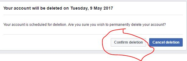 Delete Facebook account permanently within 14 days