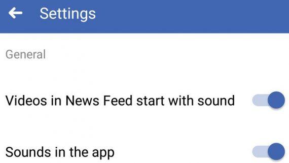 Turn Off Autoplay Facebook videos