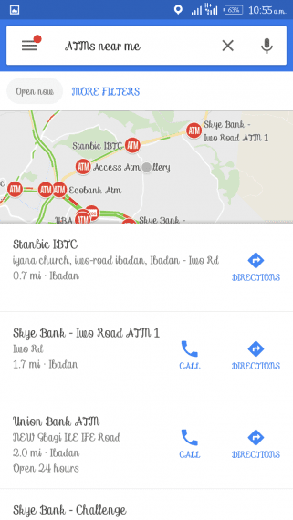 How to Find The Nearest ATM Machine Using Google