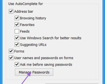Internet Explorer Password Manager