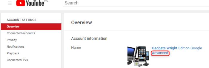YouTube custom URL