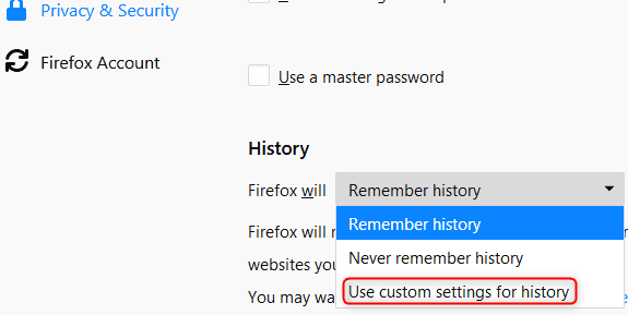 Clear Firefox Caches