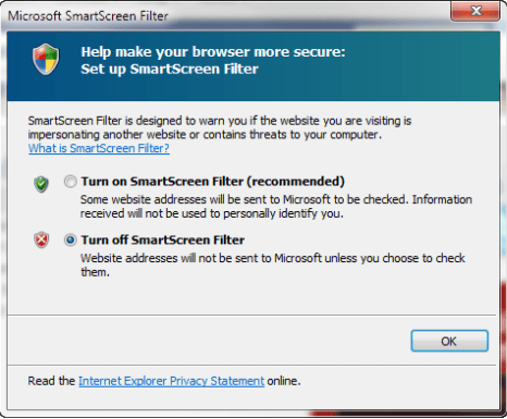 How to Disable the SmartScreen