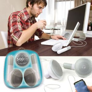 Giant ipod ear buds