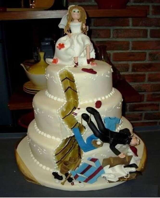 Bolos curiosos para comemorar o divórcio