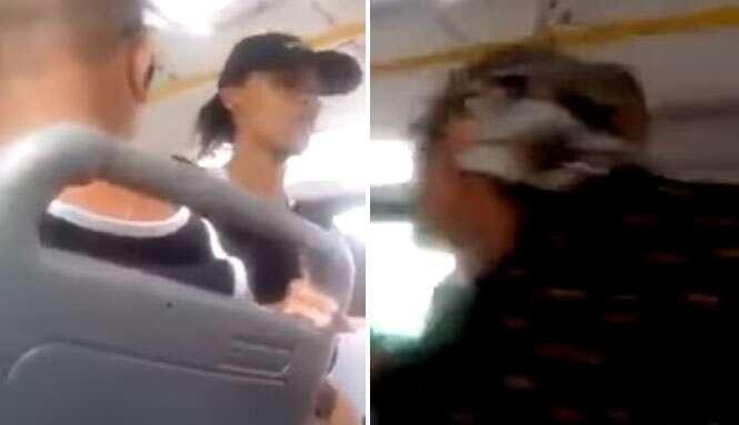 Menina que pedia dinheiro para ajudar a família é surpreendida após sua mãe aparecer no mesmo ônibus que ela e a desmascarar
