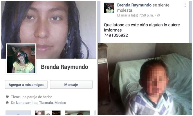 Mulher coloca filho à venda no Facebook