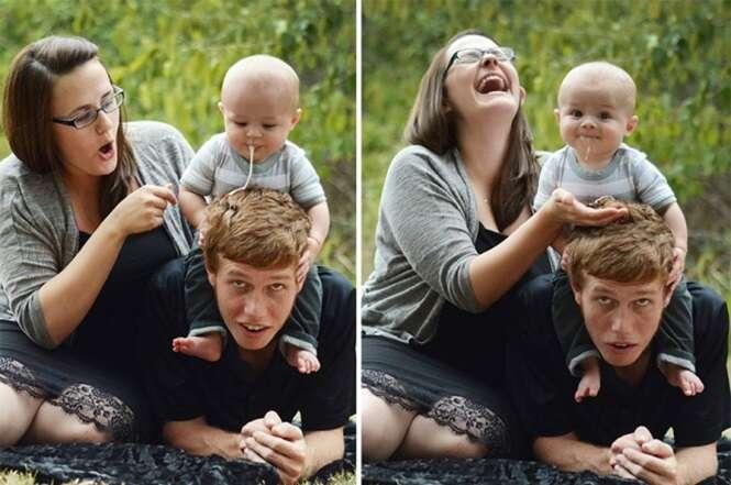 Bebês que ?arruinaram? fotos