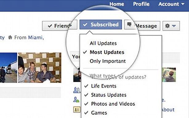 Suscripciones en Facebook