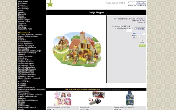 Detalle de catálogo online de juguetes